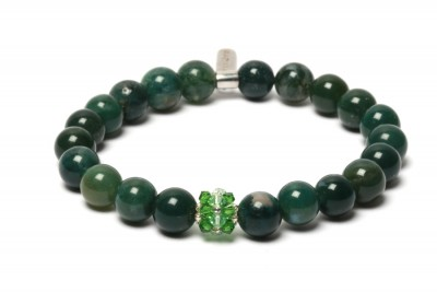 MONTHS moss agate bracelet...